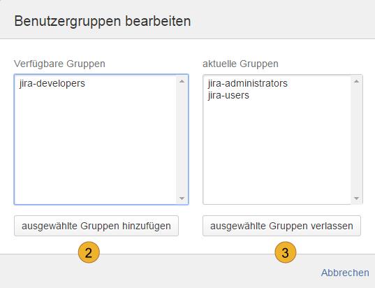Atlassian JIRA - Benutzergruppen - Benutzergruppen bearbeiten