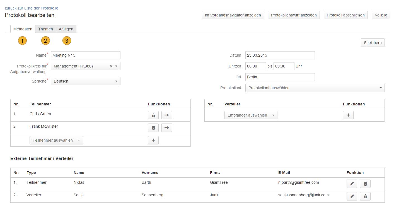 AgileMinutes - Protokoll / Besprechung bearbeiten
