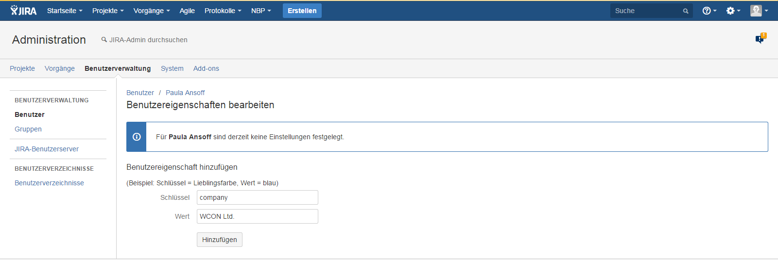 Atlassian JIRA - Edit user properties