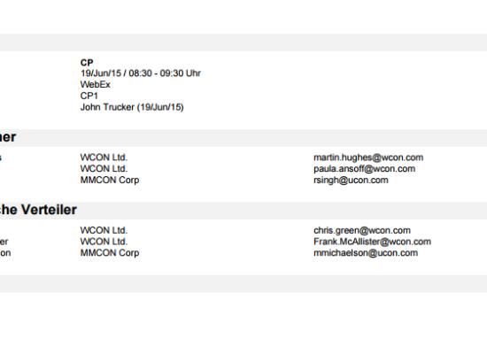 AgileMinutes - Protokollentwurf als PDF Export