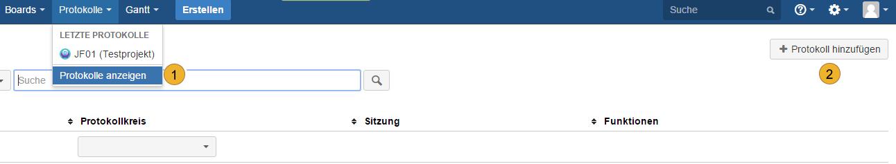 Atlassian JIRA - Protokoll hinzufügen