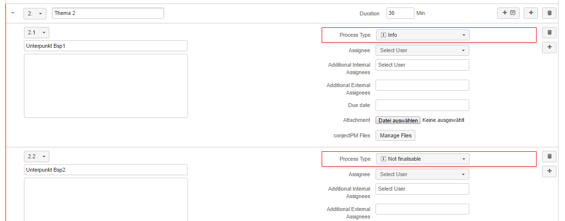 AgileMinutes - Protokoll fertigstellen (PDF Export) - Projekteinstellungen (Wiki-Markup, HTML, Text