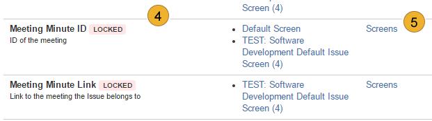 AgileMinutes - adding references - JIRA Screens