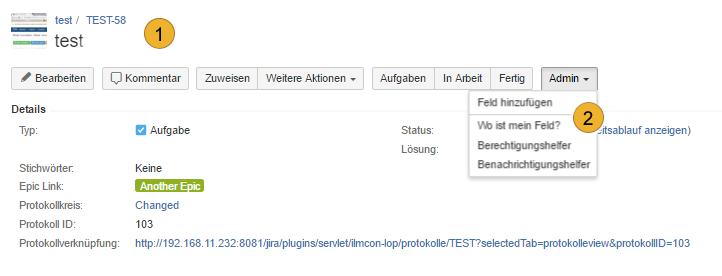 AgileMinutes - Referenzen hinzufügen - Felder hinzufügen