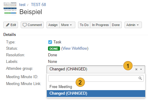 AgileMinutes - adding references - edit field