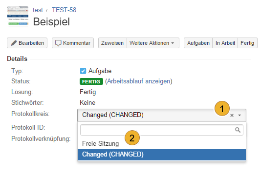 AgileMinutes - Referenzen hinzufügen - Felder bearbeiten